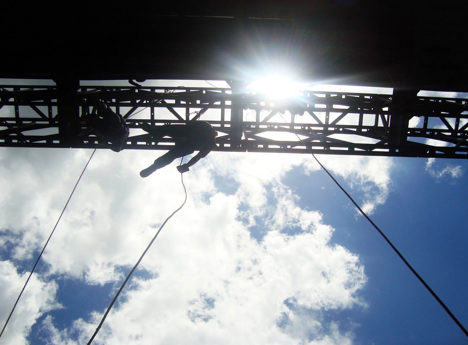 Campo 4 in Talisay City rappelling