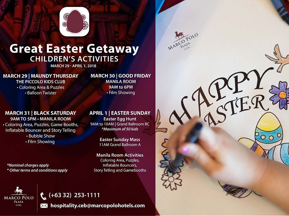 Marco Polo Plaza Hotel Easter Activities